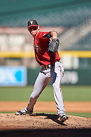 Arizona Diamondbacks pitcher Sam McWilliams (38) during an Instructional League game against the Oakland Athletics on October 15, 2016 at Chase Field in Phoenix, Arizona.  (Mike Janes/Four Seam Images)
