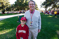Roger Smith and his grandson before Saturday's, November 23, 2013, Big Game at Stanford University.