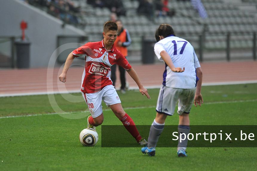 RSC Anderlecht Dames - Standard Femina de Liege : Celine Verdonck.foto JOKE VUYLSTEKE / Vrouwenteam.be