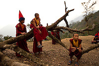 Buddhist Lama Monks, Sikkim, India