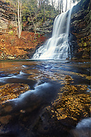 Little Stony Creek plummeting over Cascade Falls, Pembroke, Giles County, Virginia, USA.