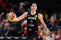 Washington, DC - July 13, 2019: Las Vegas Aces guard Kelsey Plum (10) brings the ball up court during 1st half action of game between Las Vegas Aces and Washington Mystics at the Entertainment & Sports Arena in Washington, DC. (Photo by Phil Peters/Media Images International)