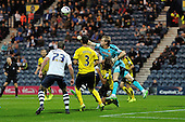 25/08/2015 Capital One Cup, Second Round Preston North End v Watford<br /> Giedrius Arlauskis punches clear
