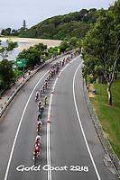Picture by Alex Whitehead/SWpix.com - 14/04/2018 - Commonwealth Games - Cycling Road - Currumbin Beachfront, Gold Coast, Australia - Men's Road Race, Jon Mould of Wales leads the peloton