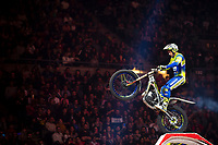 2nd February 2020; Palau Sant Jordi, Barcelona, Catalonia, Spain; X Trail Mountain Biking Championships; Jeroni Fajardo (Spain) of the Sherco Team in action during the X-Trail indoor Barcelona