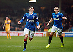 Emerson Hyndman celebrates after scoring the second goal for Rangers