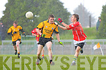 Martin Collins of Asdee chases Brosna's Aidan Barry last Sunday in Brosna.