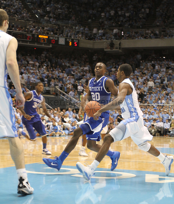 Doron Lamb running to shoot against North Carolina on Dec. 4, 2010.  Photo by Latara Appleby | Staff
