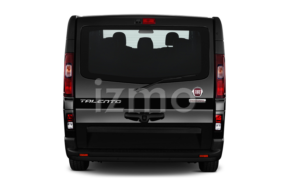 Straight rear view of 2018 Fiat Talento-Combi Panorama Door Passenger Van Rear View  stock images