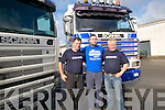 SCANITRUCKS: Scania Truck drivers arrived at the Tralee Mart on Saturday morning to announce details for their forth coming run on the 1st and 2nd Oct6 2011 for their ring of Kerry drive to raise funds for The Brothers of Chairty...........................