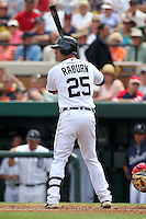 Detroit Tigers Ryan Raburn #25 during a spring training game vs. the Boston Red Sox at Joker Marchant Stadium in Lakeland, Florida;  March 15, 2011.  Boston defeated Detroit 2-1.  Photo By Mike Janes/Four Seam Images