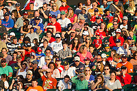 A crowd of 4,838 were on hand to watch the Southern League game between the Jackson Generals and the Tennessee Smokies at Smokies Park on April 14, 2012 in Kodak, Tennessee.  The Smokies defeated the Generals 5-2.  (Brian Westerholt/Four Seam Images)