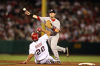 August 23, 2006 Anaheim, CA.Dustin Pedroia In a MLB game played at Angel Stadium where the Boston Red Sox defeated the Los Angeles Angels 5-4