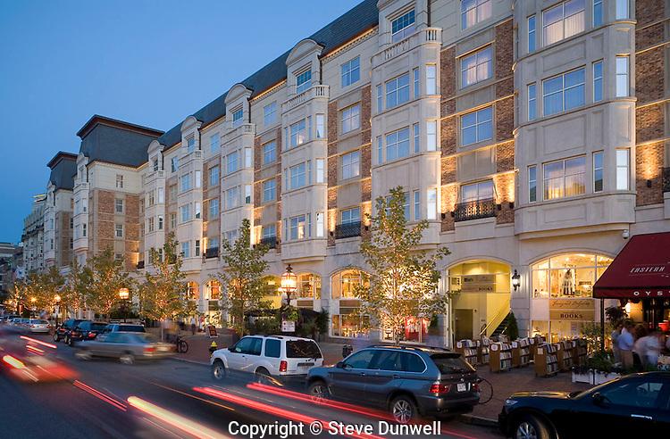 Hotel Commonwealth, evening Kenmore Square, Boston, MA