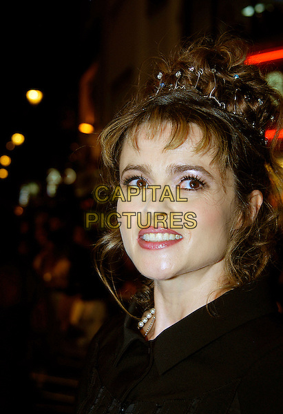 "HELENA BONHAM CARTER.UK premiere of ""Corpse Bride"" at Vue Cinema, London, UK..October 17th, 2005.Ref: IA.headshot portrait hair accessory crown .www.capitalpictures.com.sales@capitalpictures.com.©Capital Pictures"