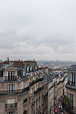 FRANCE, Paris, Parisian rooftops in Montmartre, Paris City view in the background