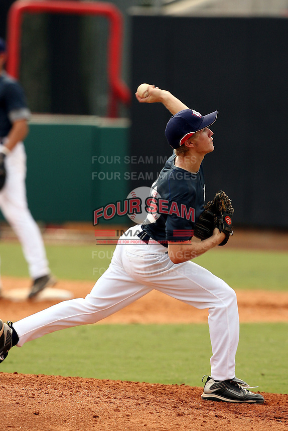 September 15, 2009:  Corey Hahn, one of many top prospects in action, taking part in the 18U National Team Trials at NC State's Doak Field in Raleigh, NC.  Photo By David Stoner / Four Seam Images