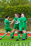 Dillon Robinson of Kerry's U17 squad celebrates his 2nd goal of the game against Cobh ramblers on Sunday with teammates Ronan Cahill, Dillon Robinson, Kevin Williams, John Hayes & Michael O'Gara