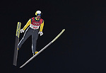 Janne Ahonen (FIN). Mens normal hill individual. Qualification. Ski jumping. Alpensia ski jump centre. Pyeongchang2018 winter Olympics. Alpensia. Pyeongchang. Republic of Korea. 08/02/2018. ~ MANDATORY CREDIT Garry Bowden/SIPPA - NO UNAUTHORISED USE - +44 7837 394578