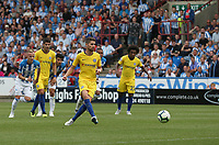 Chelsea's Jorginho scores his sides second goal from the penalty spot <br /> <br /> Photographer Stephen White/CameraSport<br /> <br /> The Premier League - Huddersfield Town v Chelsea - Saturday August 11th 2018 - The John Smith&rsquo;s Stadium<br />  - Huddersfield<br /> <br /> World Copyright &copy; 2018 CameraSport. All rights reserved. 43 Linden Ave. Countesthorpe. Leicester. England. LE8 5PG - Tel: +44 (0) 116 277 4147 - admin@camerasport.com - www.camerasport.com