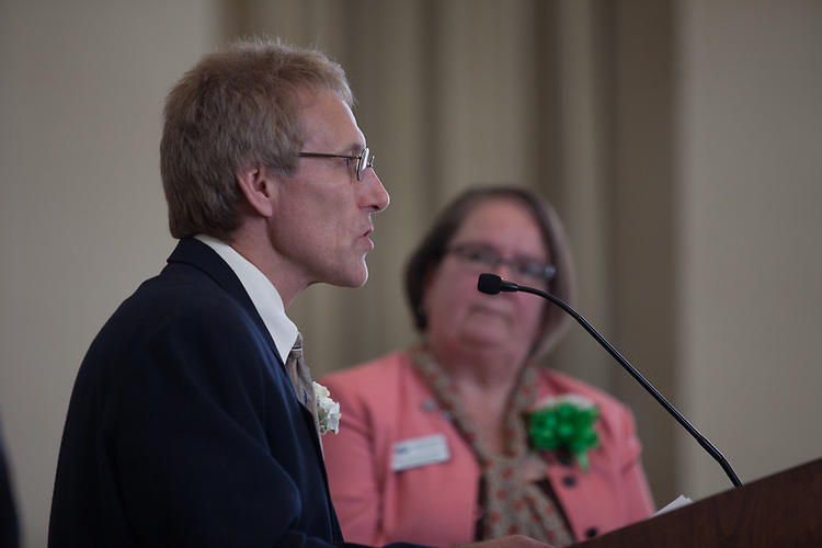 Administrative senate service awards ceremony in Walter Rotunda on Thursday, March 30, 2017. © Ohio University / Photo by Kaitlin Owens