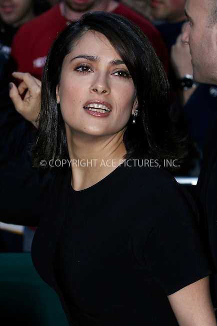 WWW.ACEPIXS.COM . . . . .  ....April 22 2010, New York City....Actress Salma Hayek arriving at Christie's Green Auction: A Bid to Save the Earth in midtown Manhattan on April 22, 2010, in New York. ....Please byline: NANCY RIVERA- ACEPIXS.COM.... *** ***..Ace Pictures, Inc:  ..Tel: 646 769 0430..e-mail: info@acepixs.com..web: http://www.acepixs.com