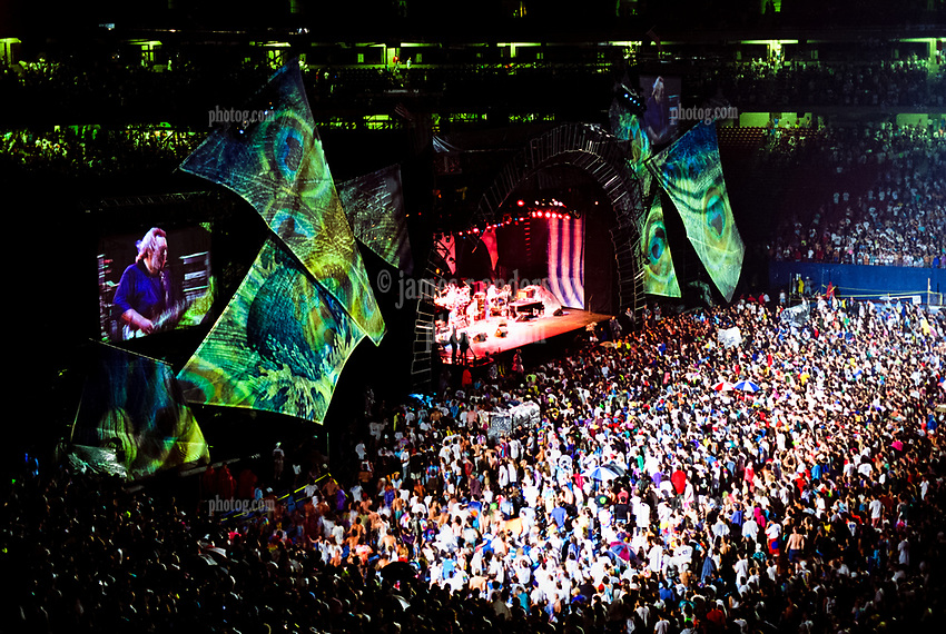 The Grateful Dead Live in Concert at Giants Stadium June 17, 1991. Audience, Full Set, Lights and Stage Design Capture Image.