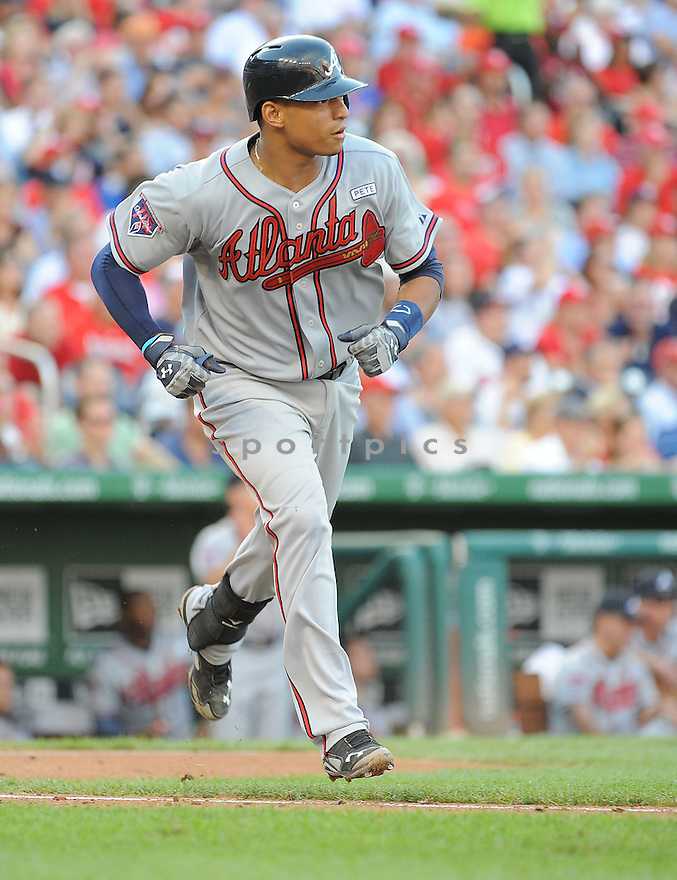 Atlanta Braves Christian Bethancourt (25) during a game against the Washington Nationals on September 10, 2014 at Nationals Park in Washington DC. The Braves beat the Nationals 6-2.
