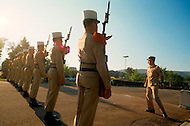 July, 1980, Aubagne, France. The Ceremony of Changing the Guards.
