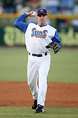 April 17, 2009:  Shortstop Ryan Klosterman of the Jacksonville Suns, Southern League Class-AA affiliate of the Florida Marlins, during a game at the Baseball Grounds of Jacksonville in Jacksonville, FL.  Photo by:  Mike Janes/Four Seam Images