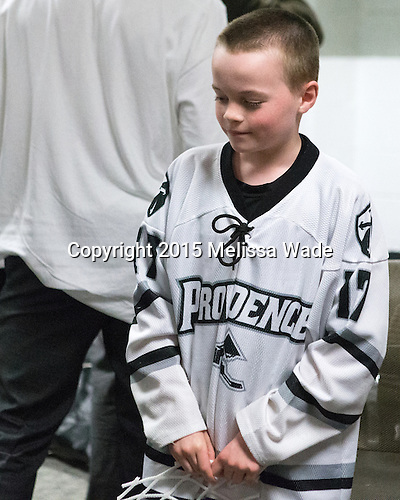 Kevin Rich (PC - 17) - The Providence College Friars celebrated their national championship win after the Frozen Four final at TD Garden on Saturday, April 11, 2015, in Boston, Massachusetts.
