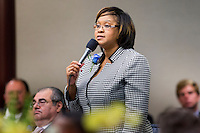 TALLAHASSEE, FLA. 11/18/14-ORGSESS111814CH-Rep. Mia Jones, D-Jacksonville, speaks during the Organizational Session of the legislature, Nov. 18, 2014 at the Capitol in Tallahassee.<br /> <br /> COLIN HACKLEY PHOTO