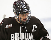 Mark Naclerio (Brown - 27) - The Harvard University Crimson defeated the Brown University Bears 4-3 to sweep their first round match up in the ECAC playoffs on Saturday, March 7, 2015, at Bright-Landry Hockey Center in Cambridge, Massachusetts.