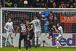 29.11.2018, BayArena, Leverkusen, Europaleque, Vorrunde, GER, UEFA EL, Bayer 04 Leverkusen (GER) vs. Ludogorez Rasgrad (BUL),<br />  <br /> DFL regulations prohibit any use of photographs as image sequences and/or quasi-video<br /> <br /> im Bild / picture shows: <br /> Torwart Renan (Ludogorez Rasgrad #33), im Zweikampf gegen  Lucas Alario (Leverkusen #13), <br /> <br /> Foto &copy; nordphoto / Meuter<br /> <br /> <br /> <br /> Foto &copy; nordphoto / Meuter