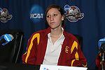 08 December 2007: Ashli Sandoval. The University of Southern California Trojans held a press conference at the Aggie Soccer Stadium in College Station, Texas one day before playing in the NCAA Division I Womens College Cup championship game.