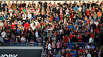 Sheffield Utd fans in sunlight during the Championship match at the Cardiff City Stadium, Cardiff. Picture date: August 15th 2017. Picture credit should read: Simon Bellis/Sportimage