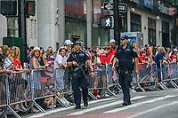 Nova York (EUA), 10/07/2019 - Policia reforcada aguarda a chegada da seleção feminina de futebol dos Estados Unidos atual campeão da Copa do Mundo de Futebol Feminino 2019 na cidade de Nova York nesta quarta-feira, 10. (Foto: William Volcov/Brazil Photo Press)