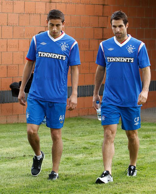 Alejandro Bedoya and Carlos Bocanegra meet up at Rangers