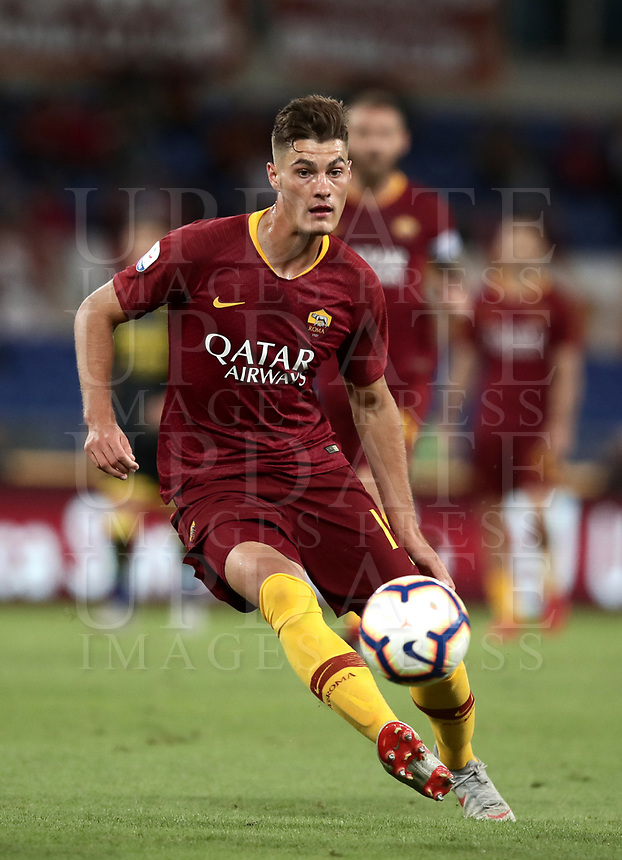 Football, Serie A: AS Roma - Frosinone, Olympic stadium, Rome, 26 September 2018. <br /> Roma's Patrick Schick in action during the Italian Serie A football match between AS Roma and Frosinone at Olympic stadium in Rome, on September 26, 2018.<br /> UPDATE IMAGES PRESS/Isabella Bonotto