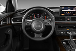 Car pictures of steering wheel view of a 2012-2014 Audi A6  Premium Plus 4 Door Sedan