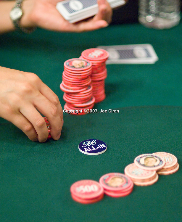 """The """"all in"""" chip at the Bicycle Casino"""