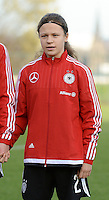 20151128 - Tubize , Belgium : German Alicia-Sophie Gudorf pictured during the female soccer match between Women under 16 teams of  Belgium and Germany , in Tubize . Saturday 28th November 2015 . PHOTO DIRK VUYLSTEKE