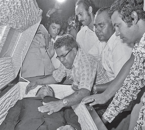 Amín Abel Hasbún, llorado por su familia.