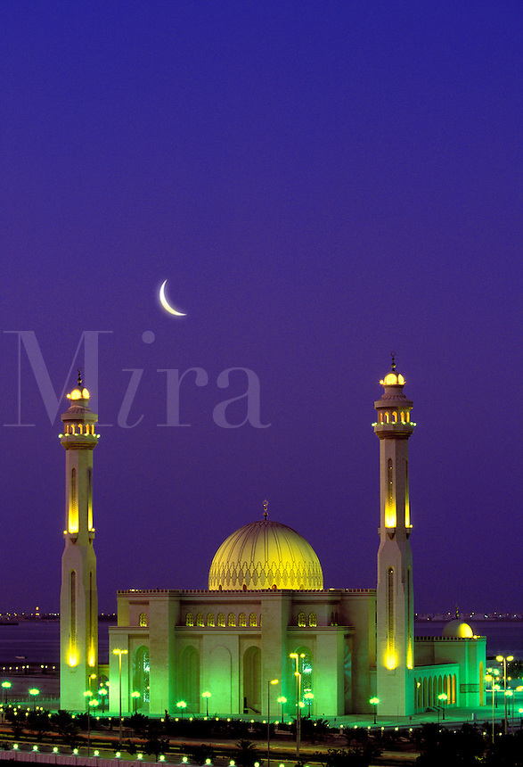 Al Fateh Mosque, Bahrain.  Imposing modern mosque near the city of Manama, the capital of Bahrain.