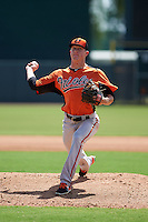 Baltimore Orioles pitcher Garrett Cortright (36) during an instructional league game against the Minnesota Twins on September 22, 2015 at Ed Smith Stadium in Sarasota, Florida.  (Mike Janes/Four Seam Images)