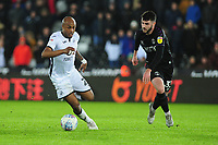 Andre Ayew of Swansea City in action during the Sky Bet Championship match between Swansea City and Charlton Athletic at the Liberty Stadium in Swansea, Wales, UK.  Thursday 02 January 2020