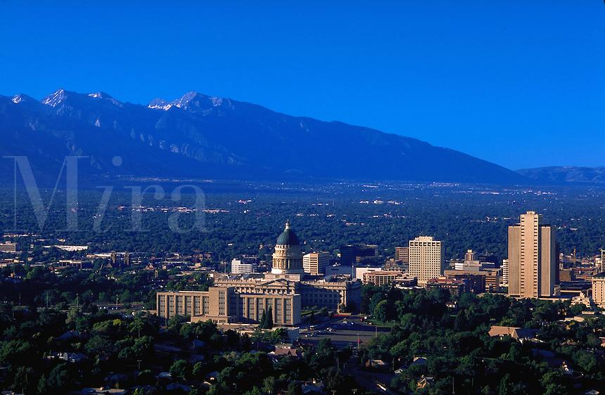 Salt Lake City from Capitol Hill, Utah