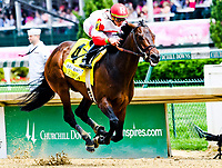 LOUISVILLE, KY - MAY 04: Backyard Heaven, #4, ridden by Irad Ortiz Jr. wins the Alysheba, an undercard race on Kentucky Oaks Day at Churchill Downs on May 4, 2018 in Louisville, Kentucky. (Photo by Jessica Morgan/Eclipse Sportswire/Getty Images)