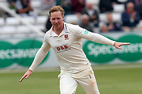 Simon Harmer of Essex celebrates taking the wicket of Dawid Malan during Essex CCC vs Middlesex CCC, Specsavers County Championship Division 1 Cricket at The Cloudfm County Ground on 29th June 2017