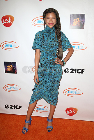BEVERLY HILLS, CA - MAY 3: Storm Reid, at the 2018 Lupus LA Orange Ball at the Beverly Wilshire Hotel in Beverly Hills, California on May 3, 2108. Credit: Faye Sadou/MediaPunch